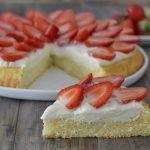 Tarte moelleuse aux fraises1