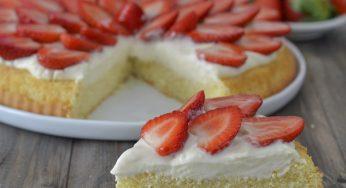 Tarte moelleuse aux fraises Recette simple et rapide