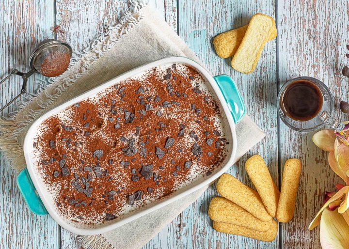 dessert Tiramisu à la ricotta et au Nutella