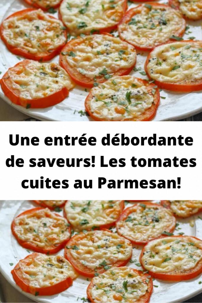 Recette des tomates cuites au Parmesan: